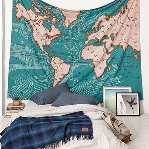 4040 Locust Ocean Current Tapestry Vintage Map